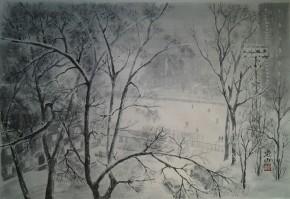 Зима. Вечерний свет.